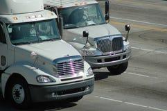 Camions de distribution Photographie stock