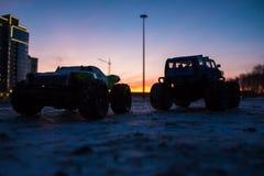 Camions de monstre de voiture de RC Image libre de droits