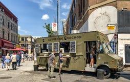 Camions de nourriture de Montréal Photographie stock