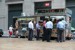 Camions de nourriture, New York Photographie stock