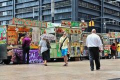 Camions de nourriture, New York Photos libres de droits