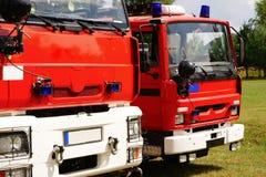 Camions de pompiers Photo stock