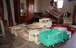 Camions en bois Photo libre de droits