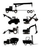 Camions et matériel d'industrie illustration stock