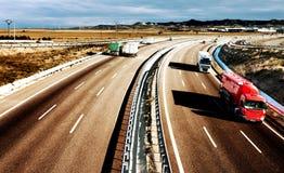 Camions et route Photos libres de droits