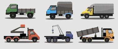 Camions industriels de fret de transport Image stock
