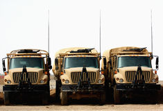 Camions militaires Images stock