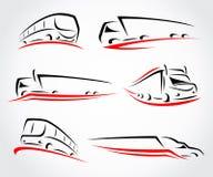 Camions réglés Vecteur Image stock