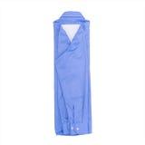 Camisa azul aislada en el fondo blanco fotografía de archivo libre de regalías