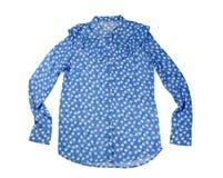 Camisa azul com estrelas Isolado no branco Foto de Stock