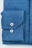 camisa azul da camisa Fotografia de Stock Royalty Free