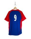 Camisa azul do futebol Fotos de Stock Royalty Free