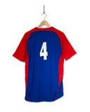 Camisa azul do futebol Imagem de Stock Royalty Free