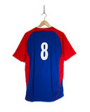Camisa azul do futebol Imagem de Stock