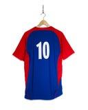 Camisa azul do futebol Fotos de Stock