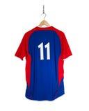 Camisa azul do futebol Foto de Stock