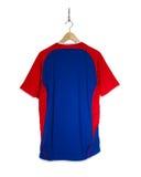 Camisa azul do futebol Foto de Stock Royalty Free