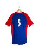 Camisa azul do futebol Fotografia de Stock