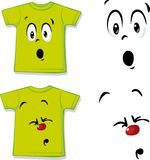 Camisa com expressão engraçada da cara - vector o illustrationShirt com expressão engraçada da cara - vector a ilustração Fotografia de Stock