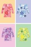 Camisa con las flores Imagen de archivo