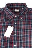 Camisa controlada roja del modelo Imagen de archivo