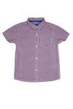 Camisa corta de las mangas del verano aislada en blanco Fotos de archivo libres de regalías