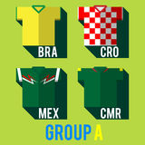 Camisa da equipa de futebol Fotos de Stock Royalty Free