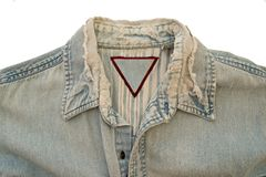 Camisa da sarja de Nimes Fotografia de Stock Royalty Free