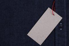 Camisa da sarja de Nimes dos homens Fotos de Stock