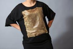 Camisa das lantejoulas Fotos de Stock Royalty Free