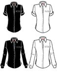 Camisa das placas de forma com as luvas curtas e longas Foto de Stock
