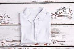 Camisa de algodão branca do escritório da mulher Fotografia de Stock