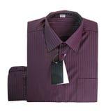 Camisa de algodón púrpura Imágenes de archivo libres de regalías