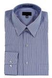 Camisa de alineada Pinstriped azul Fotografía de archivo