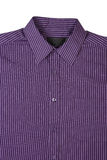 Camisa de alineada pinstriped púrpura Fotos de archivo libres de regalías