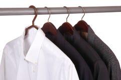 Camisa de alineada y tres chaquetas Imagen de archivo