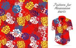 Camisa de hawaiana hawaiana un icono en un estilo plano aislado en el fondo blanco libre illustration