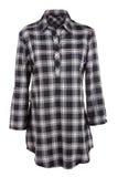 Camisa de la hembra de la tela escocesa Fotografía de archivo