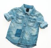 Camisa de la mezclilla de la moda foto de archivo libre de regalías