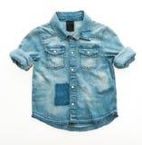 Camisa de la mezclilla de la moda imagen de archivo libre de regalías