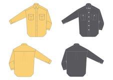 Camisa de los hombres, funda larga stock de ilustración