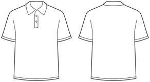 Camisa de polo - afronte y visión posterior aislada Imagen de archivo libre de regalías