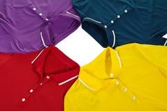 Camisa de polo del color Foto de archivo libre de regalías