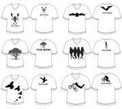 A camisa de T projeta preto e branco Imagem de Stock Royalty Free