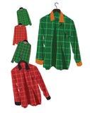 Camisa de tela escocesa stock de ilustración