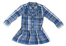 Camisa de tela escocesa azul fotos de archivo