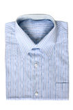 Camisa de vestido pinstriped azul Imagem de Stock Royalty Free