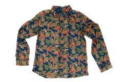 Camisa del ` s de las mujeres con un modelo Aislante en blanco Imagen de archivo libre de regalías