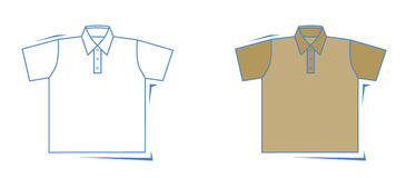 Camisa del vector Imágenes de archivo libres de regalías