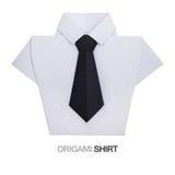 Camisa do origâmi com laço Imagem de Stock Royalty Free